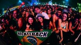 Publico do show Nickelback